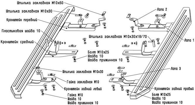 порогов по q7 инструкция на ауди установке